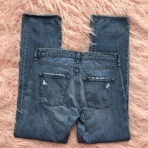 J Crew Vintage Slim Fit Skinny Distressed Jeans